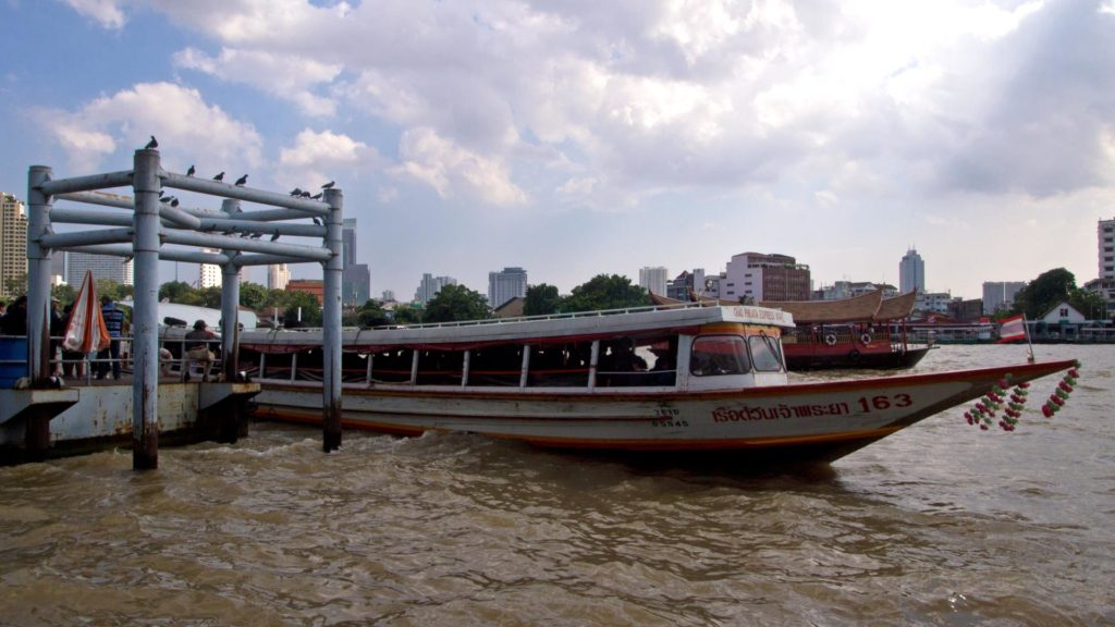 One of the Chao Phraya Express Boats on Bangkok's river