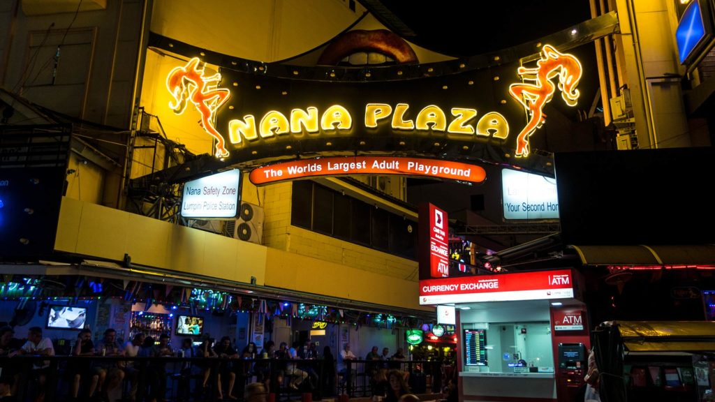 Nightlife at the Nana Plaza in Bangkok