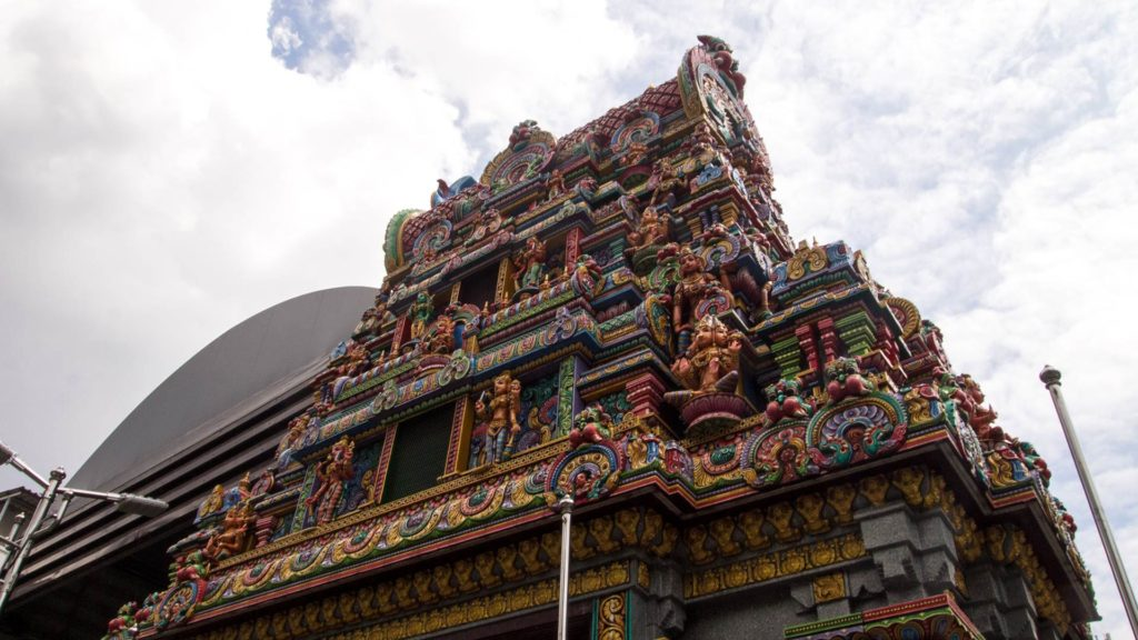 The Hindu Sri Maha Mariamman temple in Silom