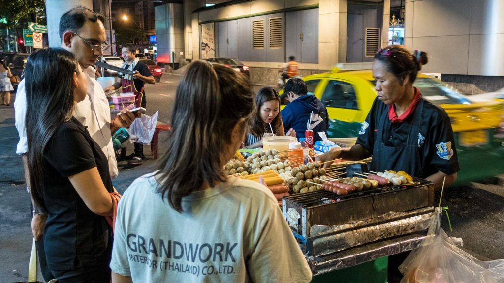 Street food vendor at the Terminal 21 in Bangkok