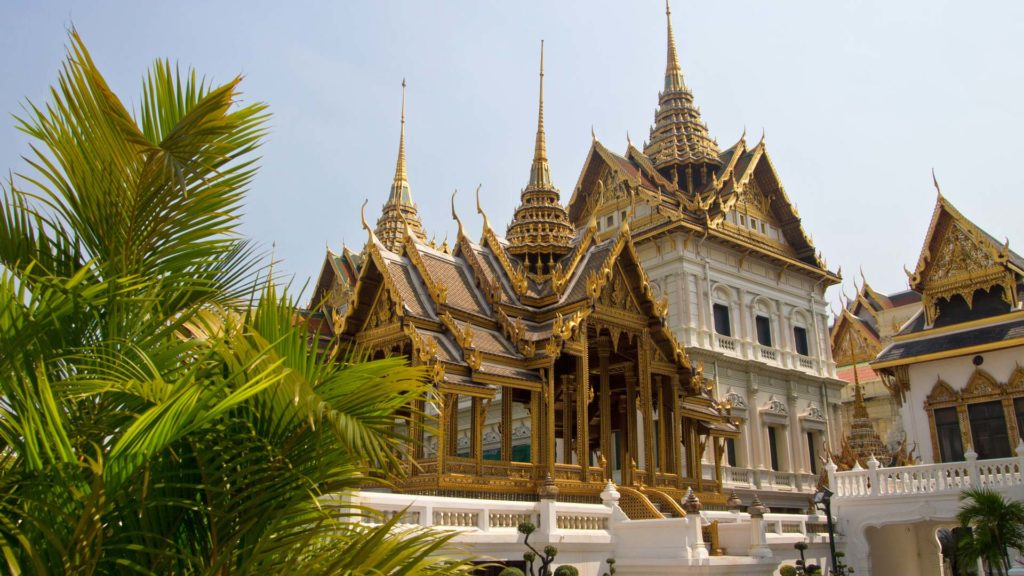 The Grand Palace at the Wat Phra Kaeo in Bangkok