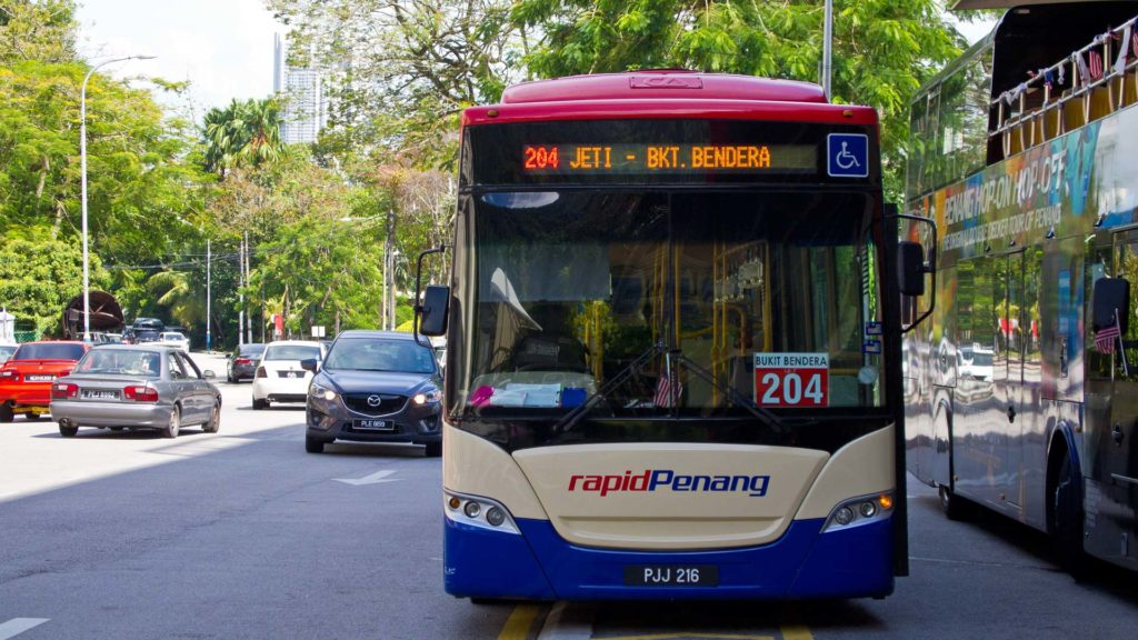 Der Rapid Penang Bus 204 am Penang Hill