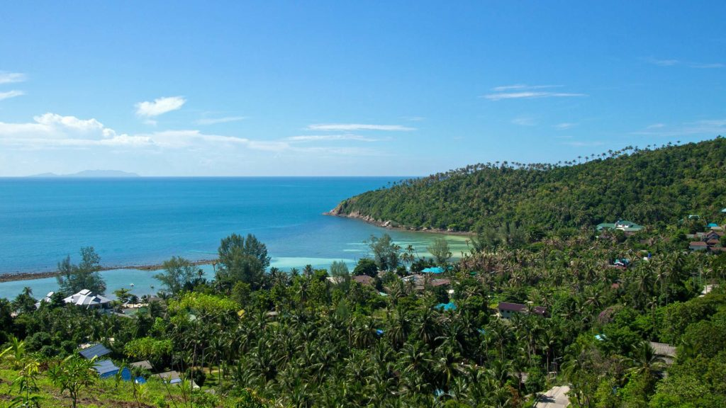 The view from the Haad Salad Viewpoint on Koh Phangan