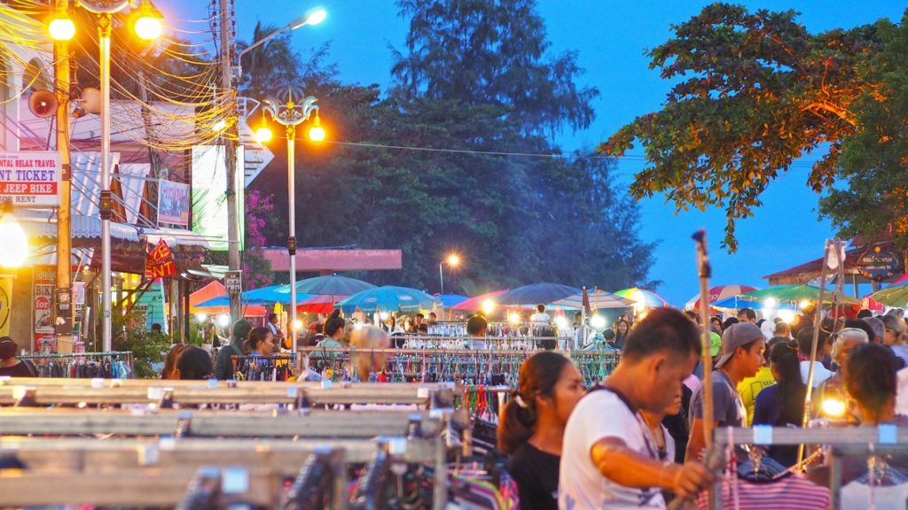 The Walking Street of Thong Sala on Koh Phangan