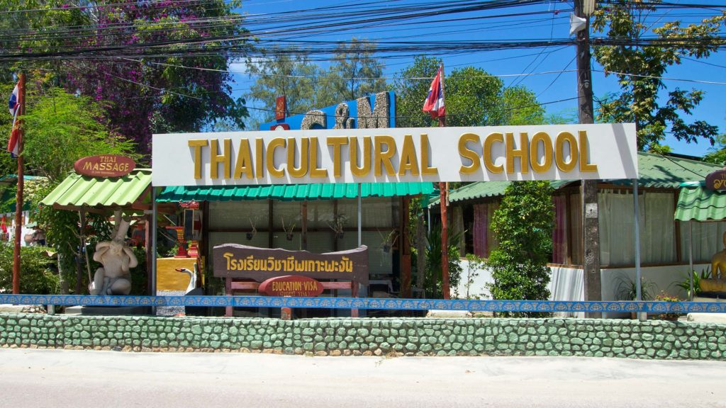 One of the language schools on Koh Phangan