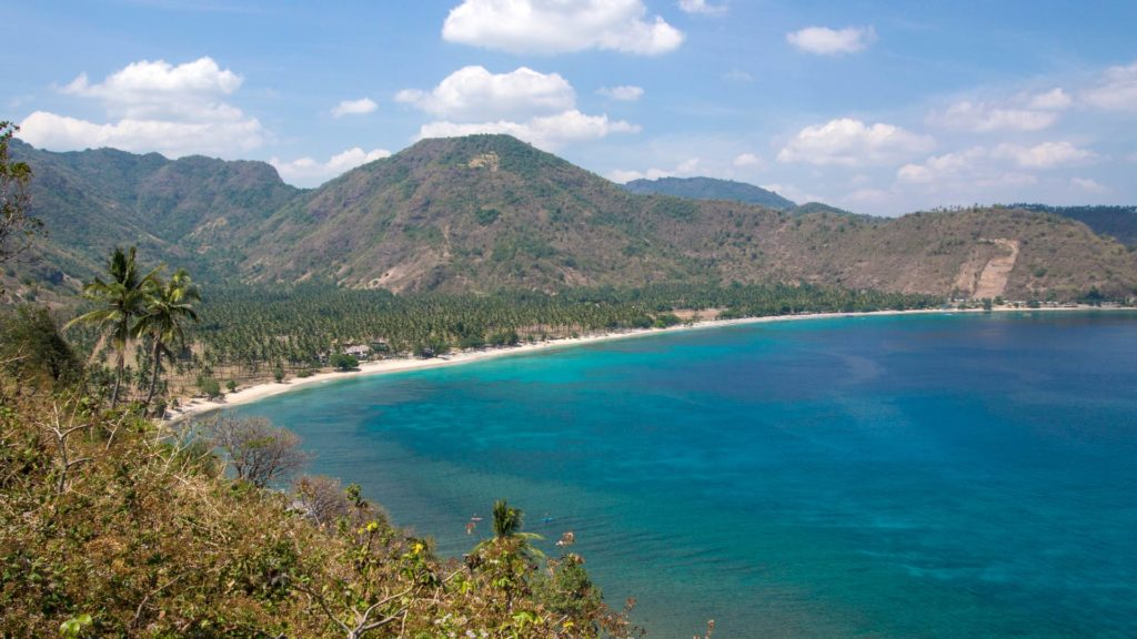 Lombok during the dry season (Nipah Beach)