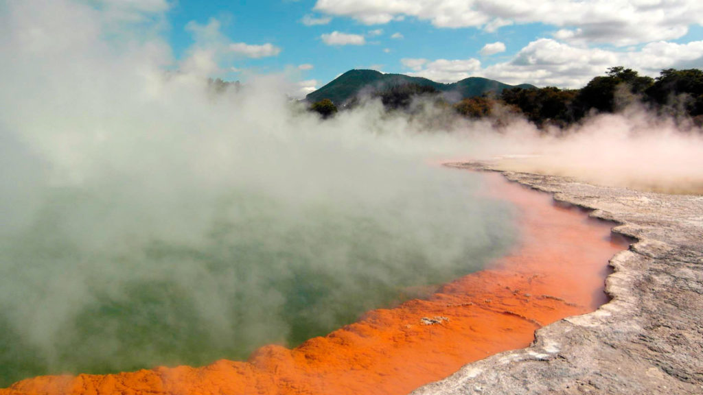 Geothermal activities in Wai-O-Tapu, New Zealand