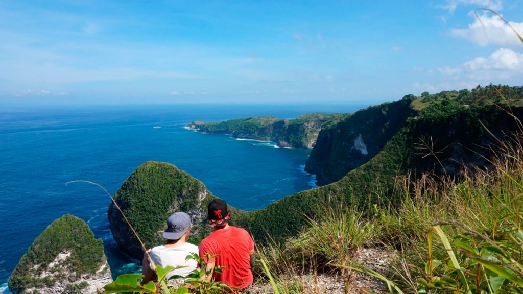 View from Karang Dawa Viewpoint on Nusa Penida