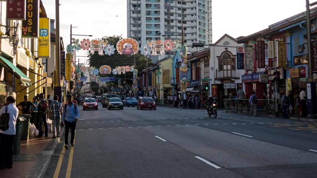 Straße in Singapurs Little India