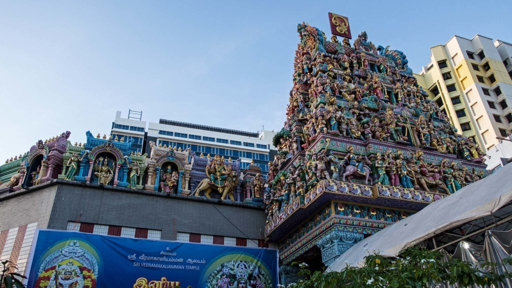 The Sri Veeramakaliamman Temple in Little India