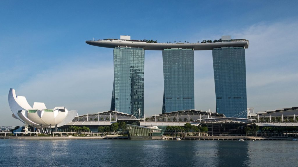 The famous Marina Bay Sands of Singapore