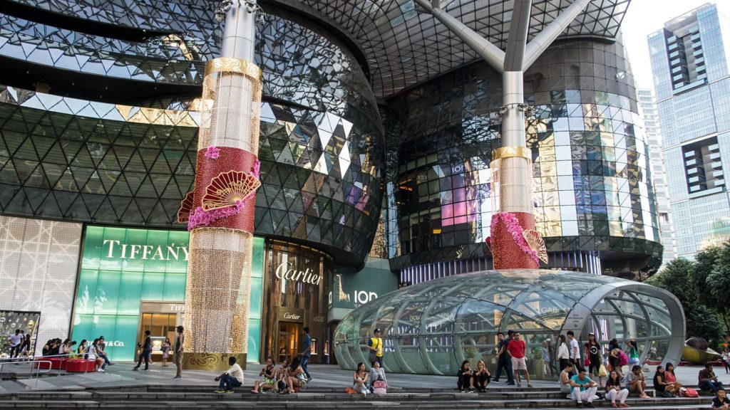 Shopping Mall an der Orchard Road von Singapur