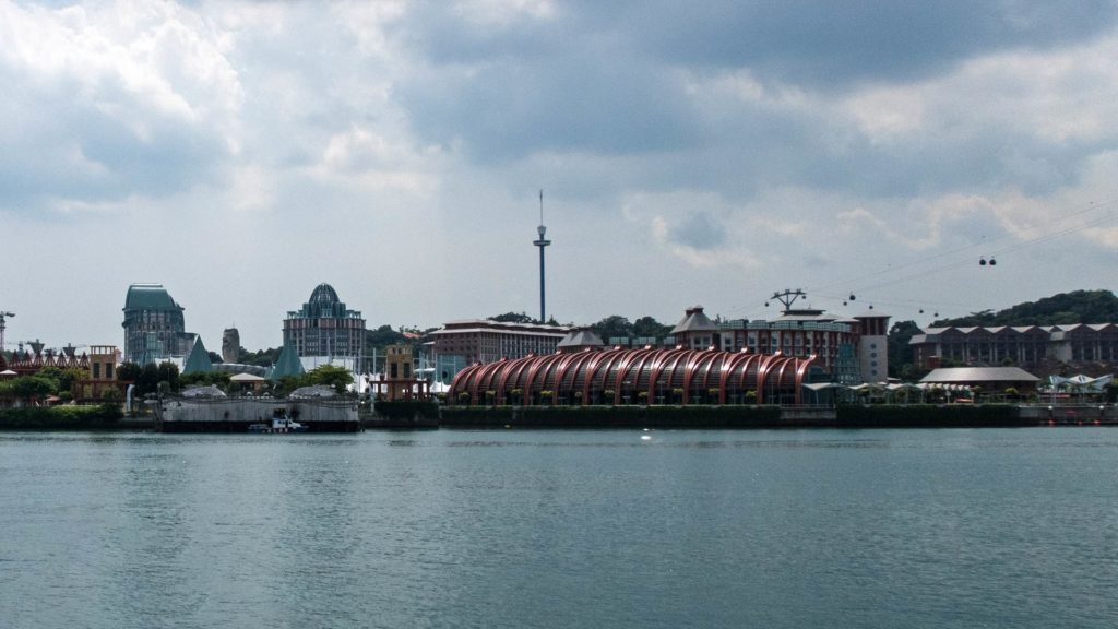 The view at Singapore's Sentosa Island