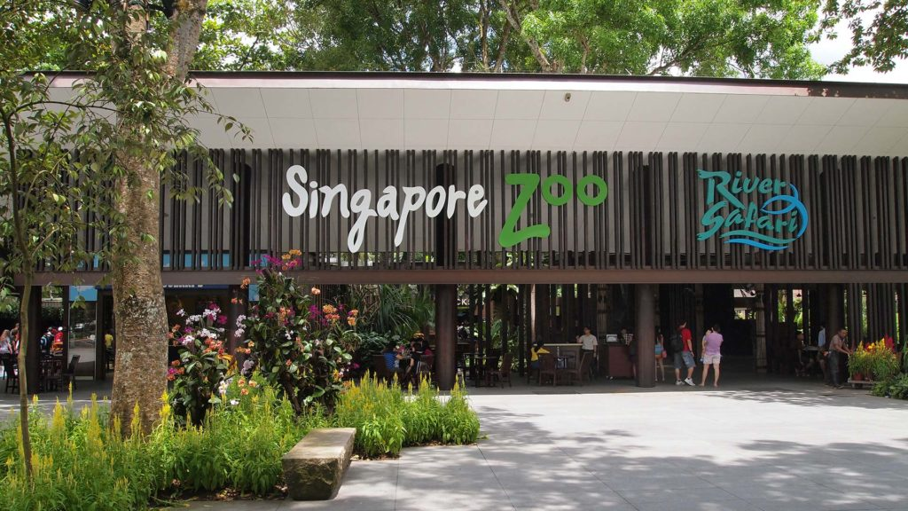 The entrance area of the Singapore Zoo