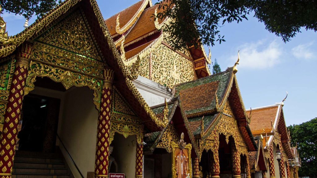 The entrance to the golden Chedi of the Wat Phra That Doi Suthep