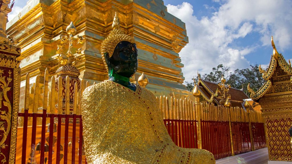 Emerald Buddha Statue im Wat Phra That Doi Suthep in Chiang Mai