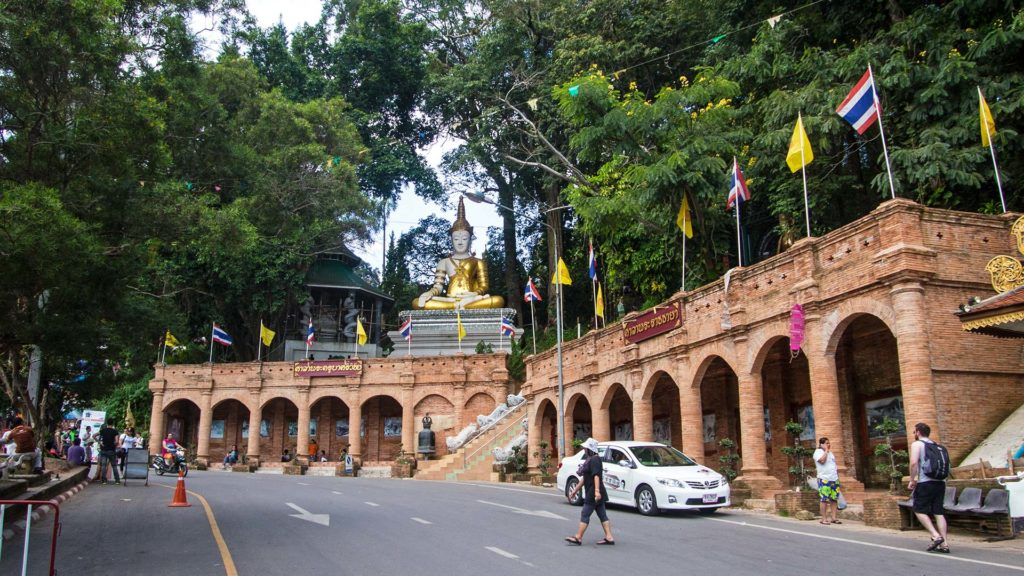 The entrance of the Wat Phra That Doi Suthep