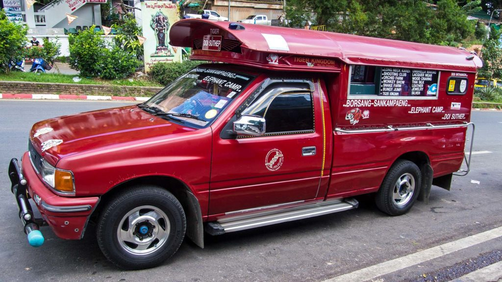 Sammeltaxi am Doi Suthep in Chiang Mai