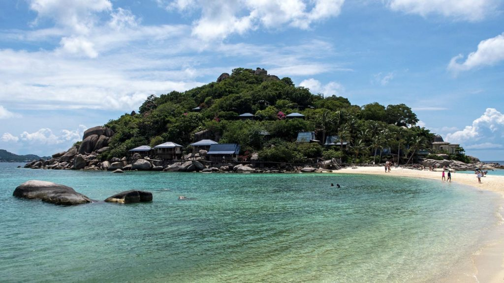 The view at Koh Nang Yuan with the famous sandbank