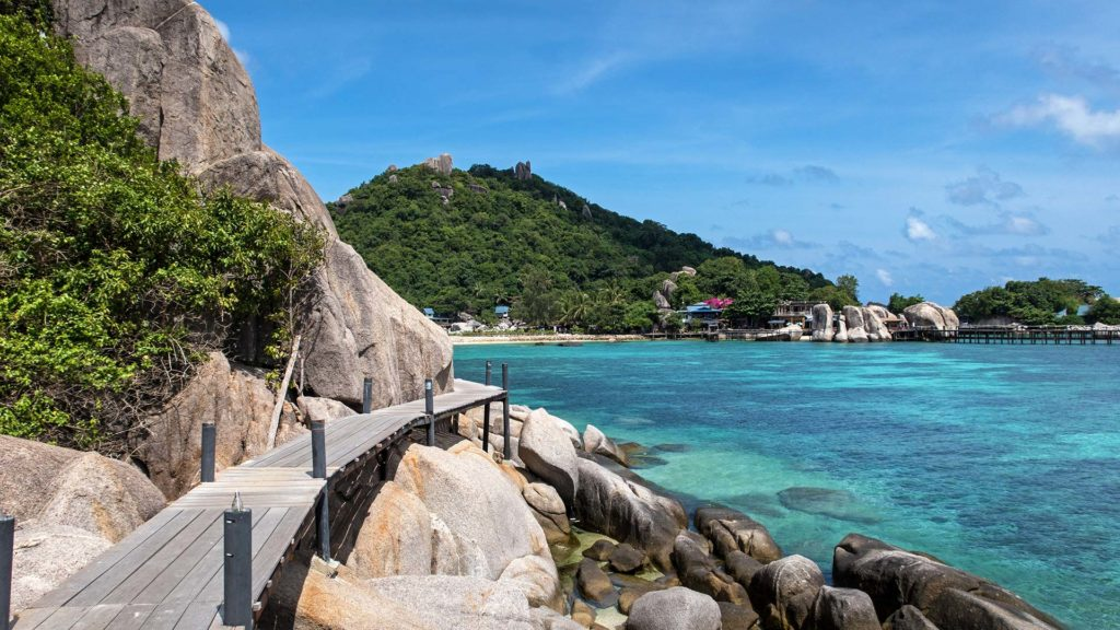 The way to the Koh Nang Yuan Viewpoint