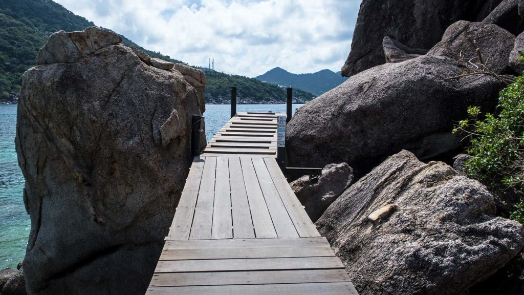 The way to the viewpoint of Koh Nang Yuan