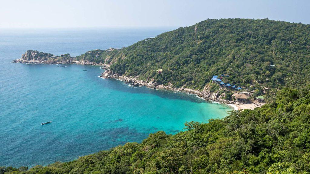 Ao Leuk Beach on the east coast of Koh Tao