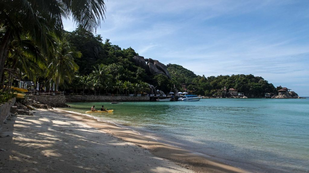 The beach at Chalok Baan Kao in the south of Koh Tao