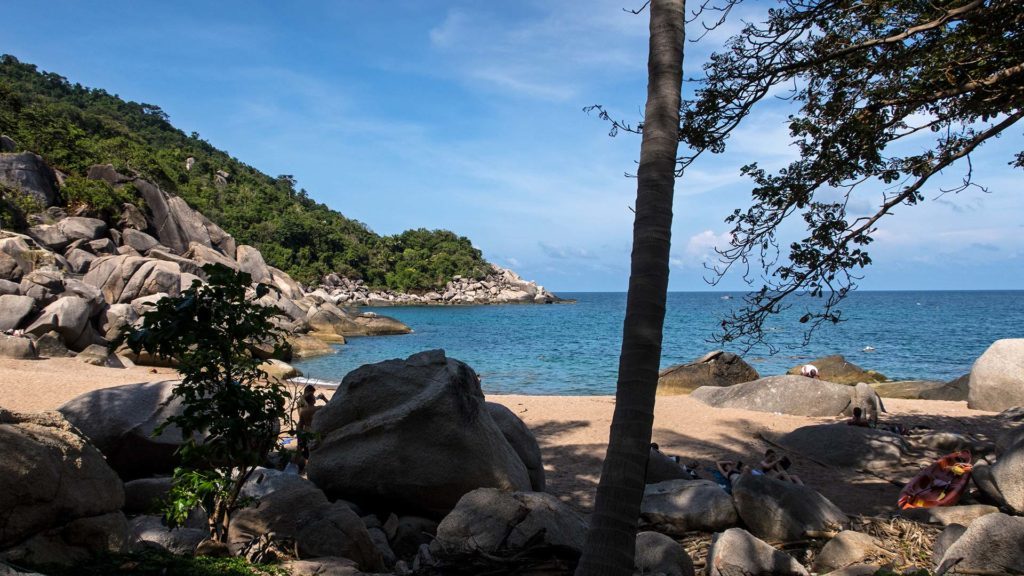 The lonely Hin Wong Bay in the east of Koh Tao