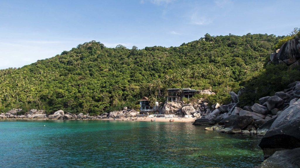 The hidden Mango Bay in the north of Koh Tao