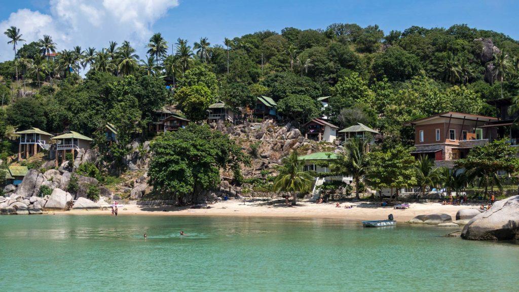 Der Taatoh Beach am John Suwan Viewpoint von Koh Tao