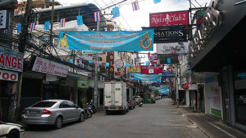 Die Walking Street in Pattaya am Tag