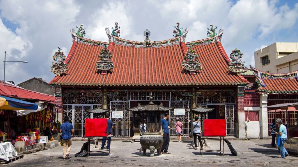 Der Goddess of Mercy Tempel in George Town, Penang