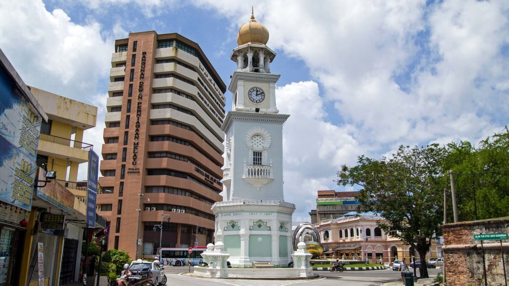 Der Queen Victoria Clock Tower von George Town, Penang