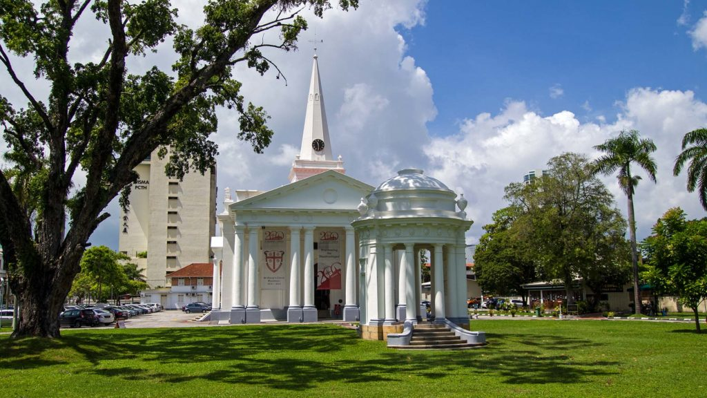 St. Georges Church in der Harmony Lane von George Town auf Penang