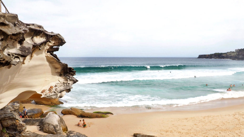 Der Tamarama Beach am Bondi nach Coogee Walk in Sydney
