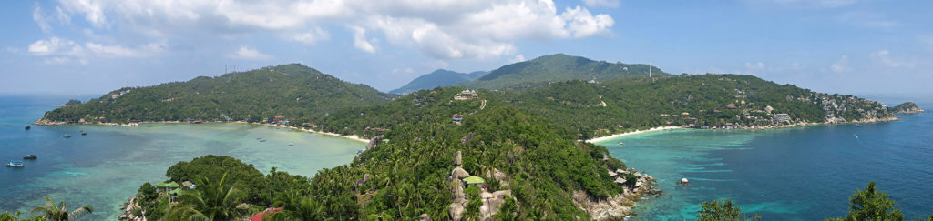 View from John Suwan Viewpoint on Koh Tao