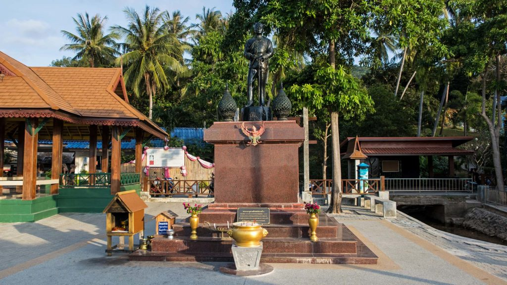 The King Rama V Monument on Sairee Beach of Koh Tao