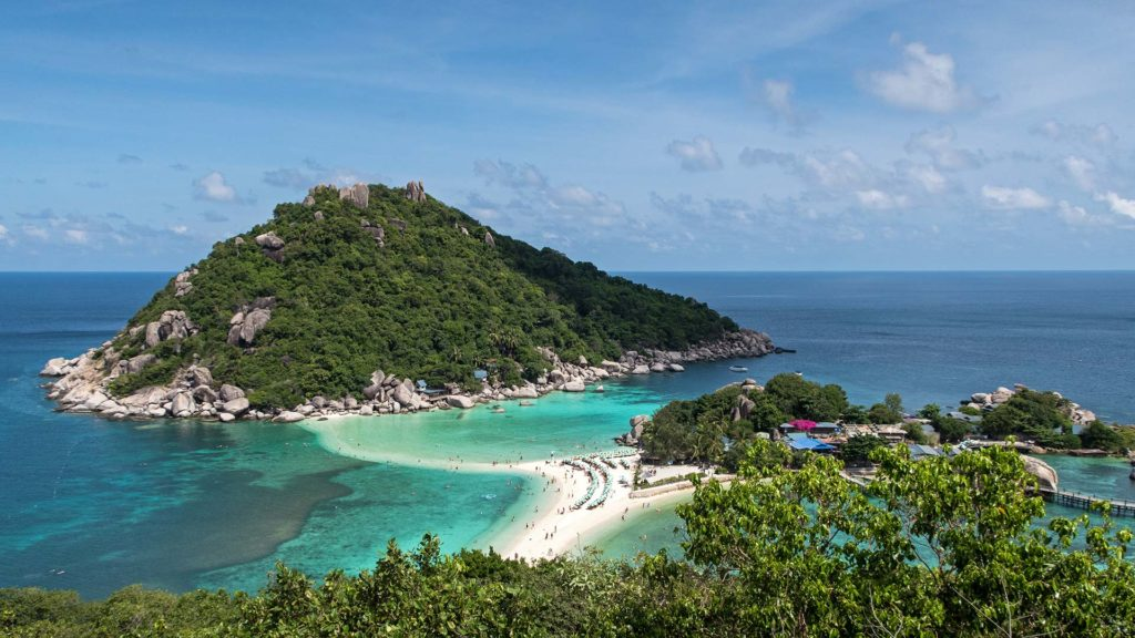 The view from Koh Nang Yuan viewpoint