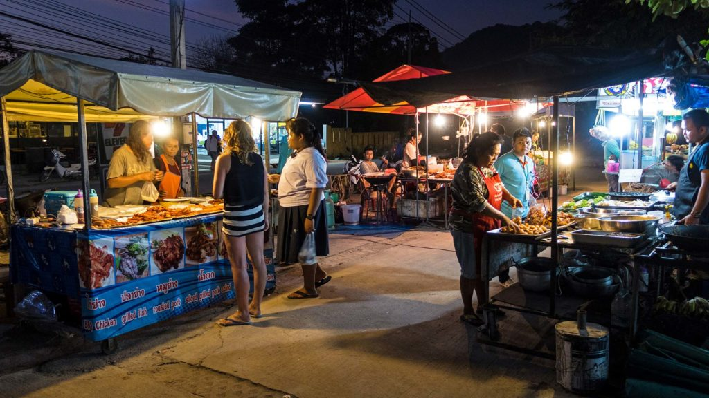 The small night market of Koh Tao