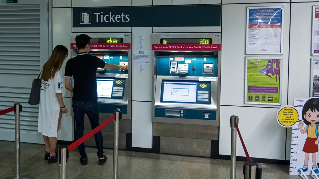 Railway ticket machines in Singapore