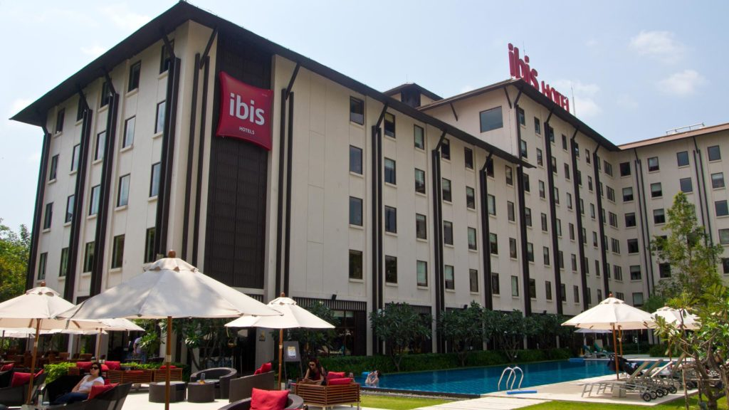 The Ibis Riverside Bangkok hotel with a swimming pool