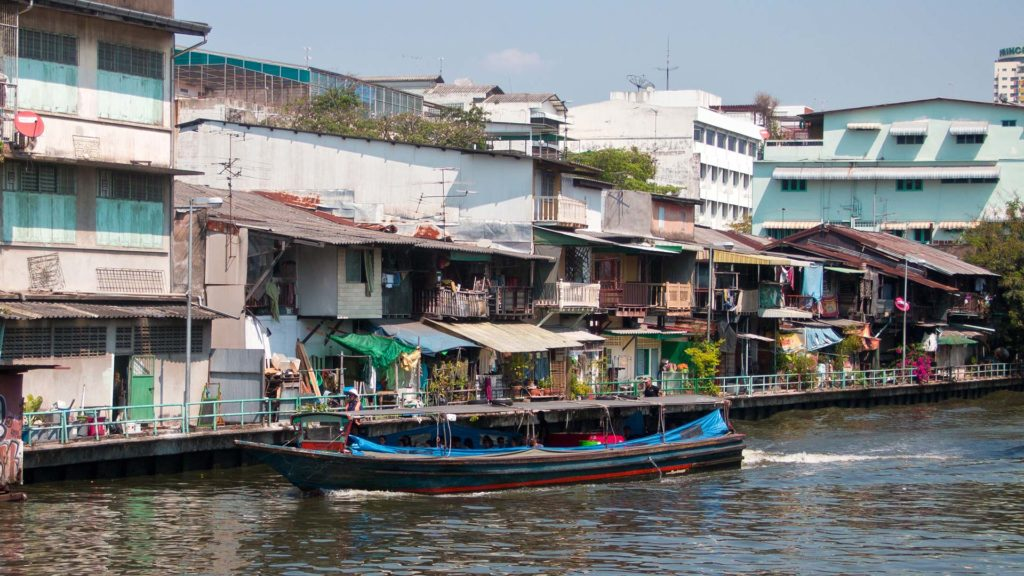Boot in den Khlongs von Bangkok