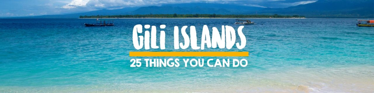 25 things you can do on the Gili Islands