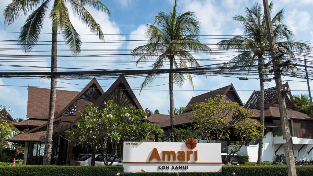 The entrance of the Amari Koh Samui on the Chaweng Beach Road
