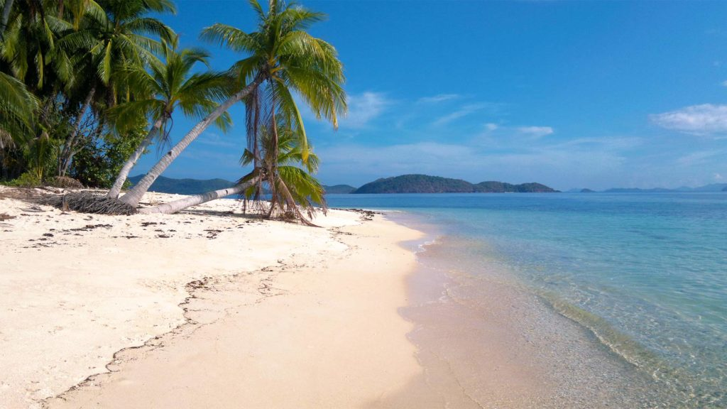 A lonely paradise beach on Iloc Island in the Barangay of Pical, Palawan