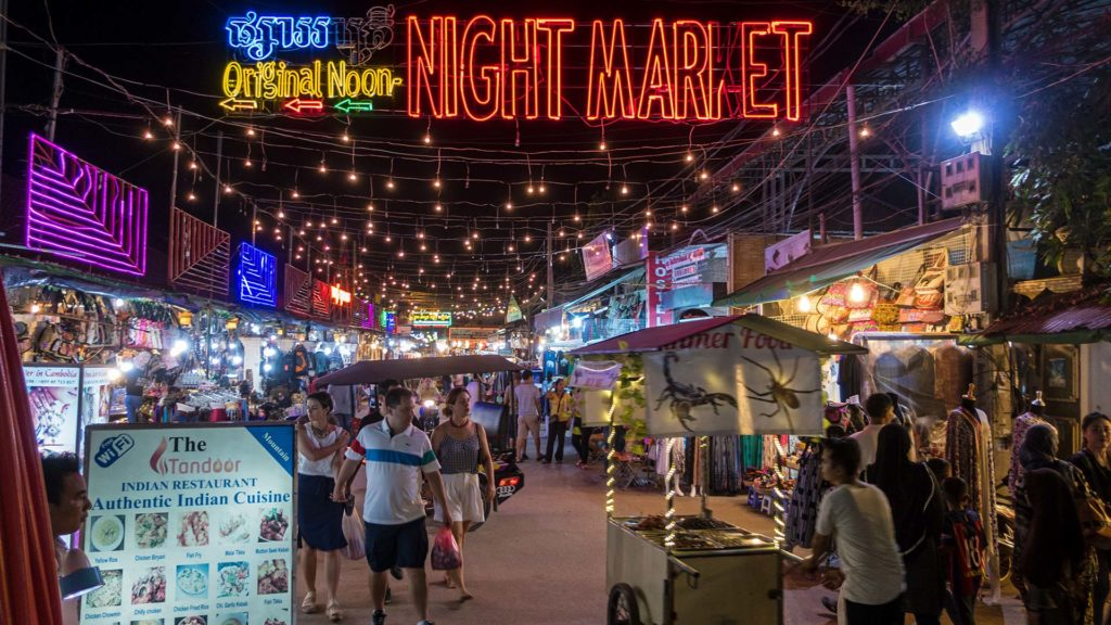 Der Original Noon Night Market von Siem Reap