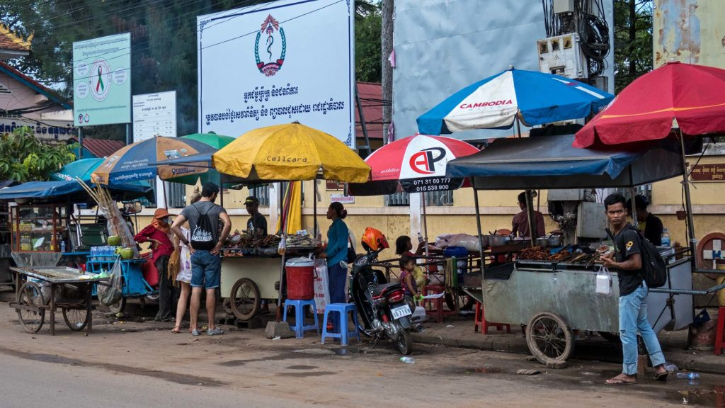 Streetfood Stände in Siem Reap