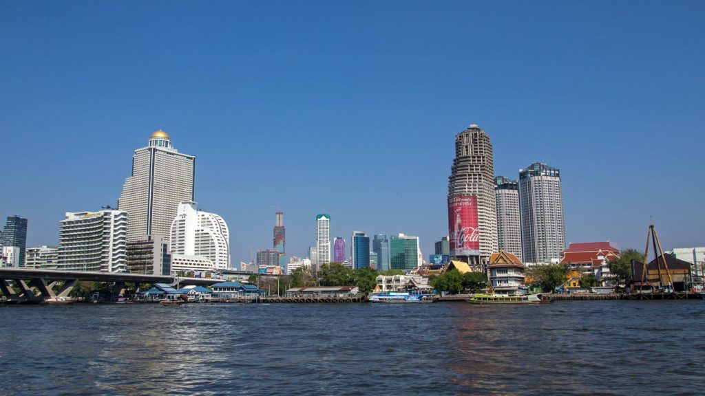 The Riverside at a stopover in Bangkok