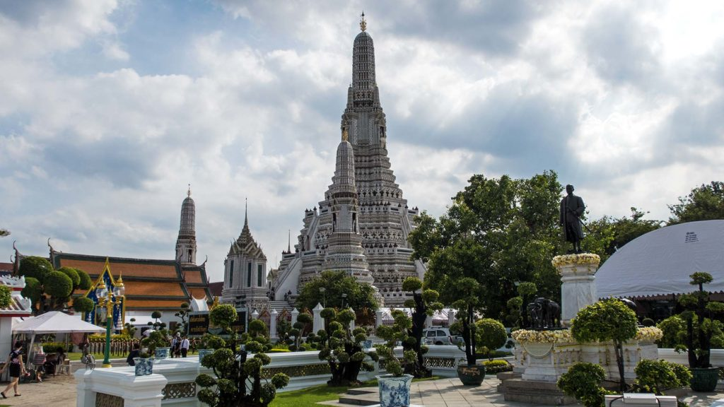The Wat Arun during a stopover in Bangkok