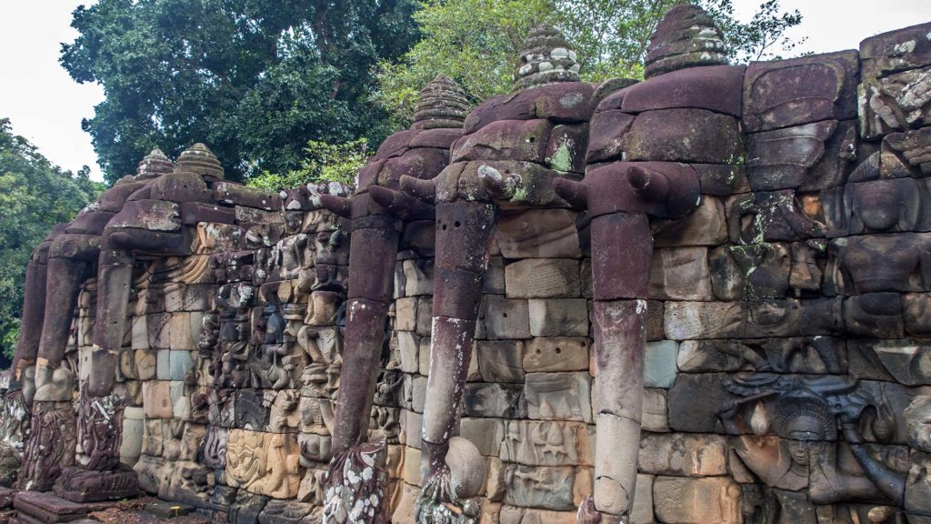 Terrace of the Elephants - die Elefantenterrasse von Angkor Thom